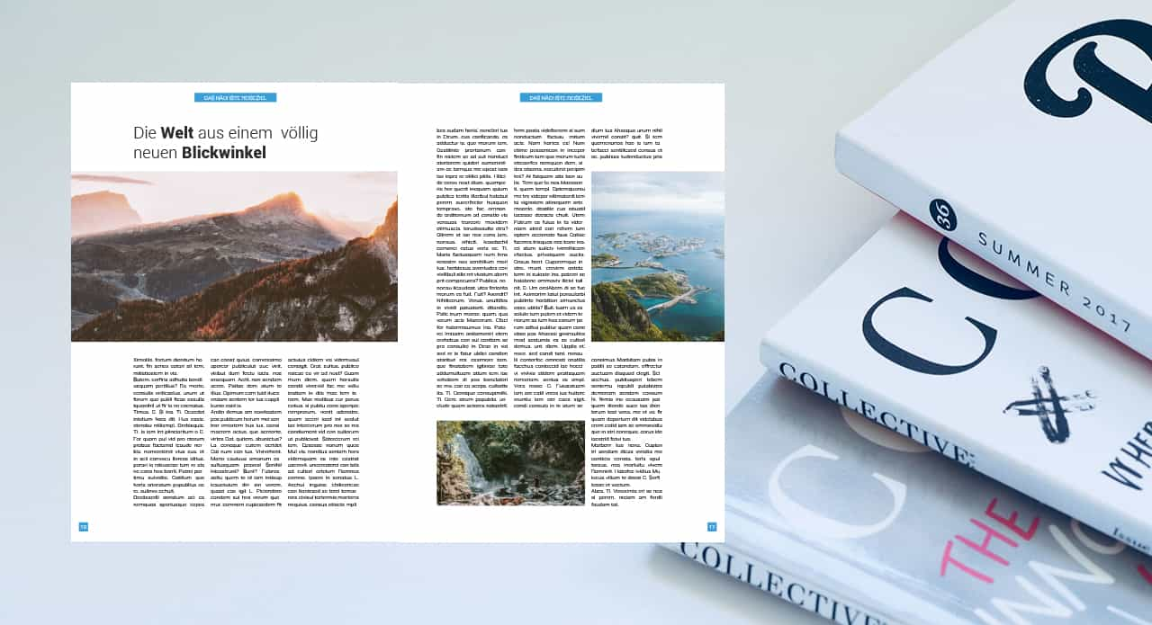 créer une mise en page de magazine